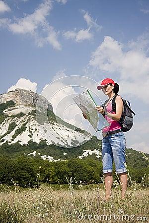 Caminante en las montañas