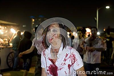 Caminata 1 del zombi del LA Imagen de archivo editorial