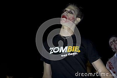Caminata 4 del zombi del LA Foto de archivo editorial