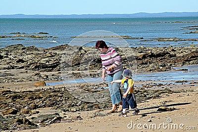 Caminata de la playa