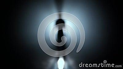 Caminhada à luz Procurando a saída, liberdade e