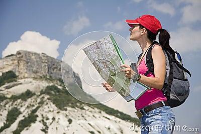 Caminhante nas montanhas