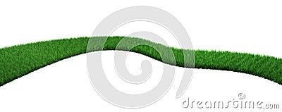 Camino verde de una hierba