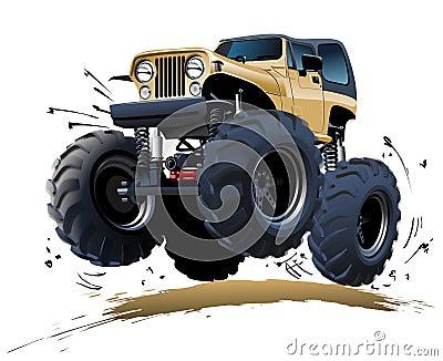 Camion de monstre de bande dessinée