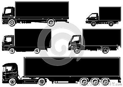 Camion di vettore impostati