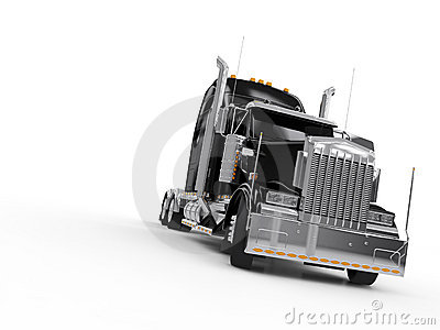 Camion lourd noir