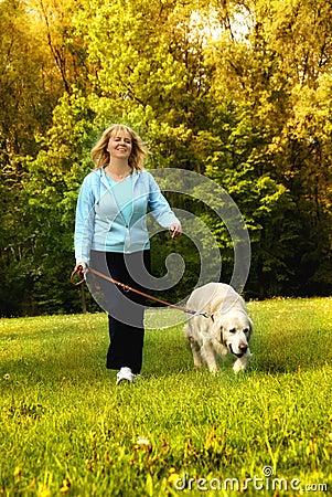 Camminando con il cane