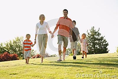 Camminare della famiglia