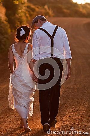 Camminare dello sposo e della sposa