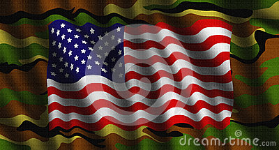 Camouflage American flag illustration