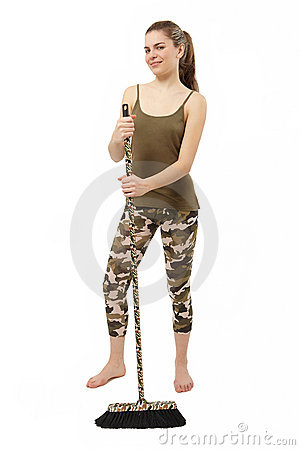 Camouflage broom