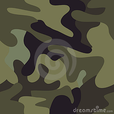 Camouflage commando army seamless pattern.