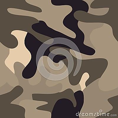 Camouflage commando army seamless pattern.