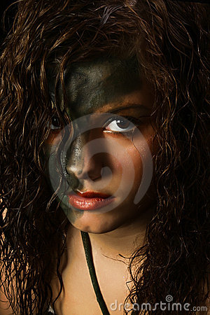Camouflage Make-up Stock Photography - Image: 17184882