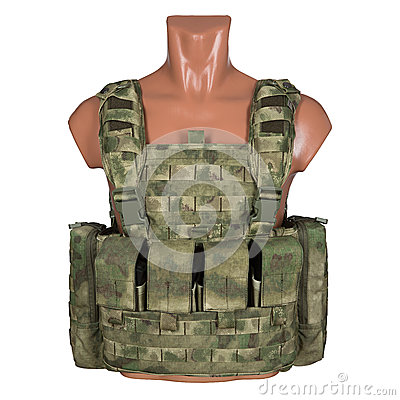 Free Camouflage, Military Body Armor, Mannequin Stock Image - 86992281