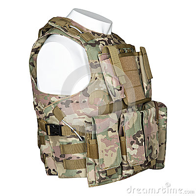 Free Camouflage, Military Body Armor, Mannequin Stock Image - 91871851