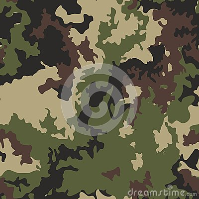 Texture military camo repeats seamless army green hunting Vector Illustration