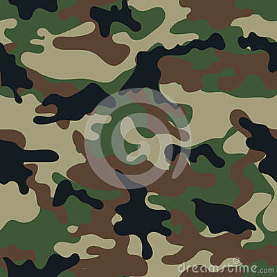 Free Camouflage Seamless Pattern. Royalty Free Stock Photos - 52846858
