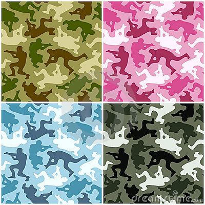 Free Camouflage Set Stock Photos - 15131243