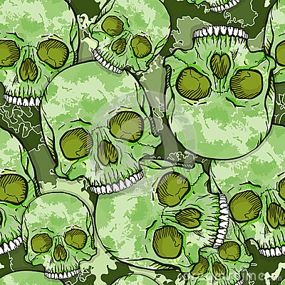 Free Camouflage Skull Pattern. Royalty Free Stock Image - 34189456