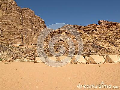 Camp at Desert
