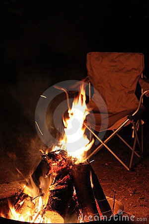 Free Camp Fire At Night Stock Photography - 12320572