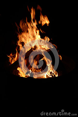 Free Camp Fire Flame Burning Night Royalty Free Stock Photography - 27498527