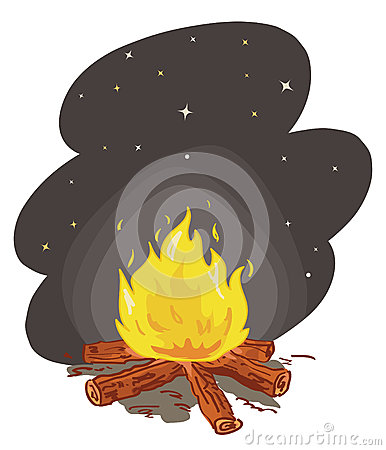 Free Camp Fire Vector Stock Photography - 24710792