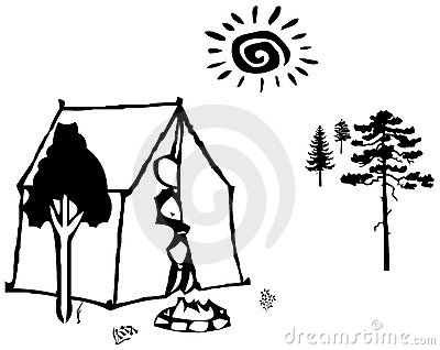 Camp in the forest