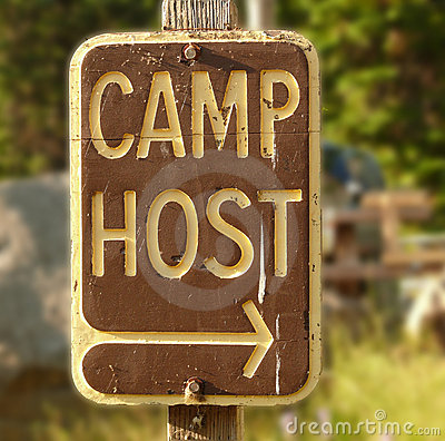 Camp host sign