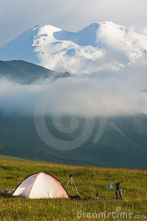 Free Camp In Mountain Royalty Free Stock Photo - 13859245