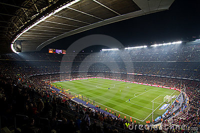 Camp Nou Stadium (Barcelona) Editorial Photography