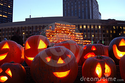 Camp Sunshine Pumpkin Festival in Boston Editorial Stock Image