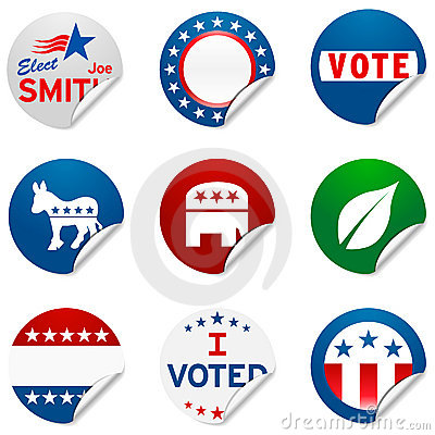 Campaign election stickers