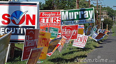 Campaign Signs Editorial Photo