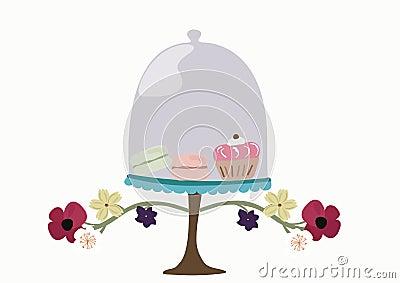 Campana de cristal de cristal de la panadería