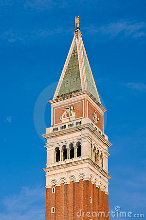 Free Campanile Bell Tower At Dawn In Venice Stock Photography - 23915042
