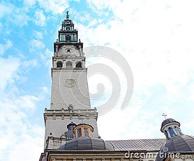 Campanille of Jasna Gora Monastery. Czestochowa, Poland