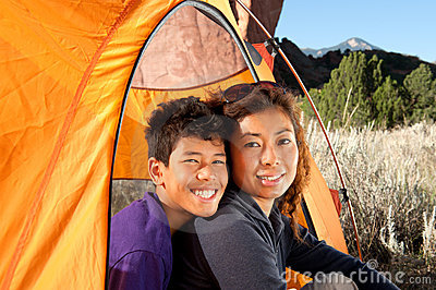 Campeggio della famiglia
