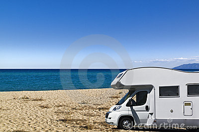 Camper on the beach