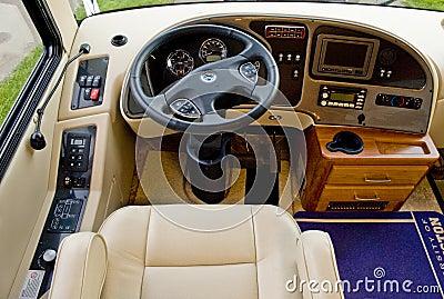Camper car driver seat