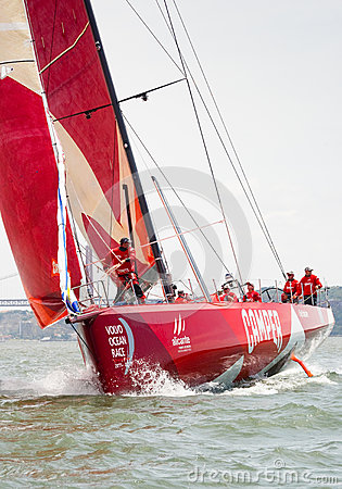 Camper Team in Volvo Ocean Race Editorial Photography