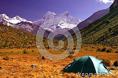 Campers on Cordillera Blanca