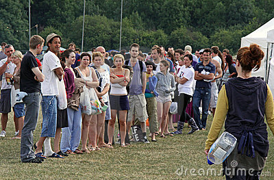 Campers at Hop Farm Music Festival Editorial Stock Image