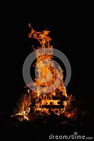 Free Campfire 1 Royalty Free Stock Photos - 434658