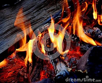 Campfire with Hot Coals