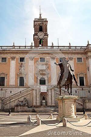 The Campidoglio square in Rome, Italy