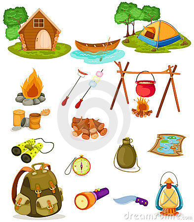 Free Camping Collection Stock Images - 14083494