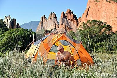 Camping in Colorado Mountains