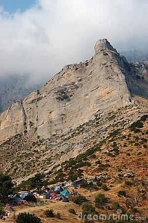 Camping in the Corinthian mountains, Greece